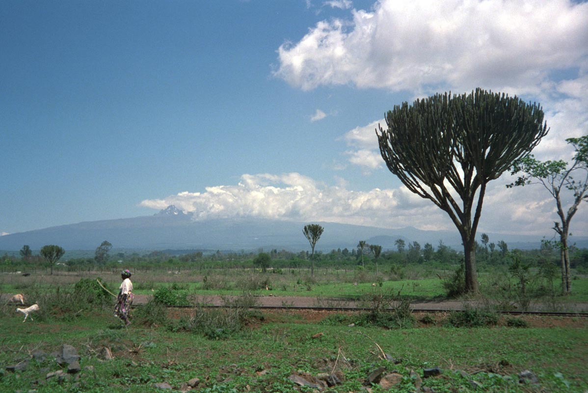 Mount Kenya in der Totalen